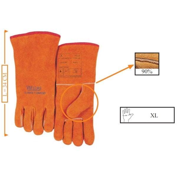 erstaunliche Qualität hoch gelobt heißes Produkt Weldas Schweißer-Handschuh 10-2101
